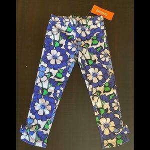Gymboree blue floral leggings 3T